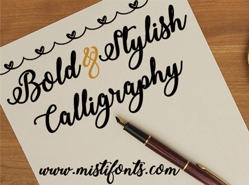 Bold stylish calligraphy font befonts