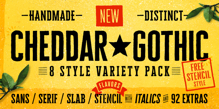 Cheddar Gothic Font Family