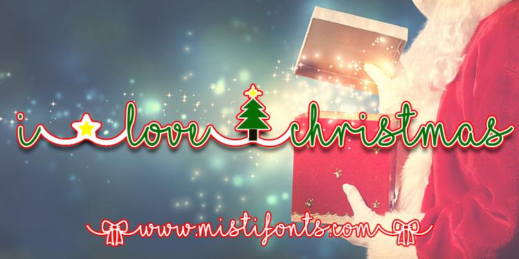 I Love Christmas Font