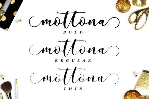Mottona Script Font