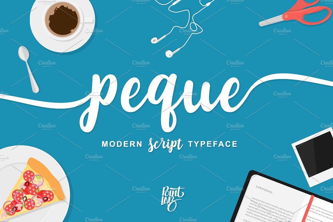 peque-script-font