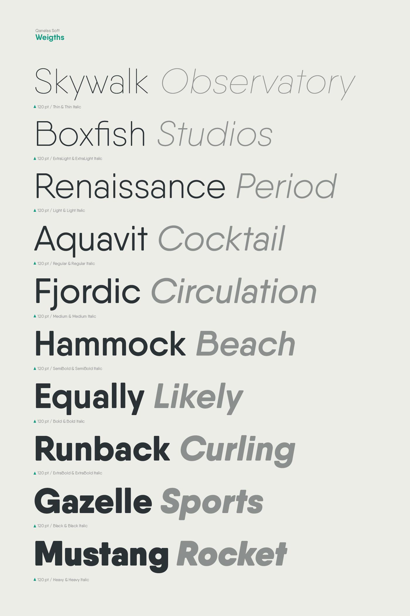 Qanelas Soft: 3 Free font weights