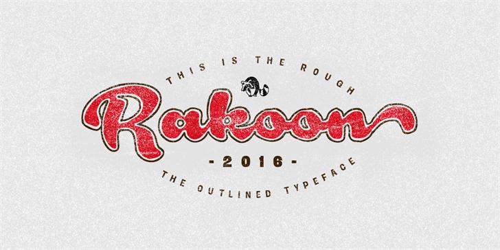 Rough Rakoon Font