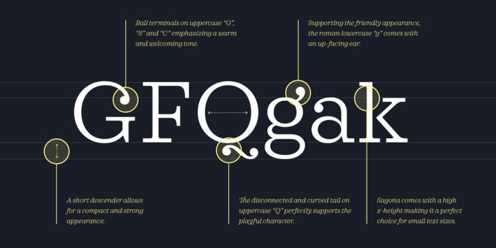 Sagona Font Family - Befonts com
