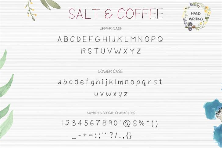 Salt Coffee Font