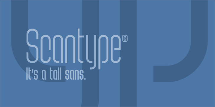 Scantype Font