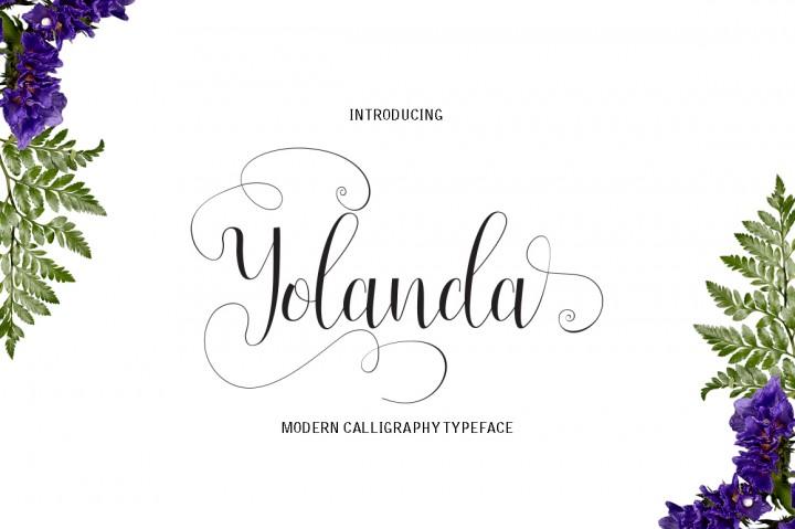 Yolanda Script Font - Befonts.com