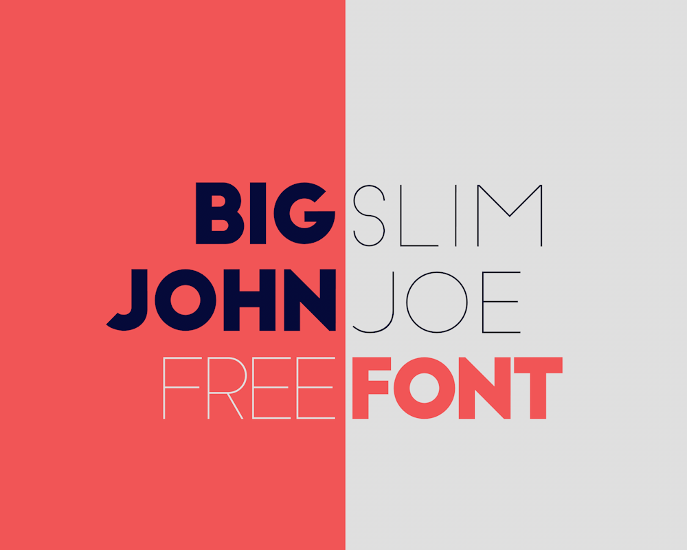 Big John / Slim Joe Font - Befonts com