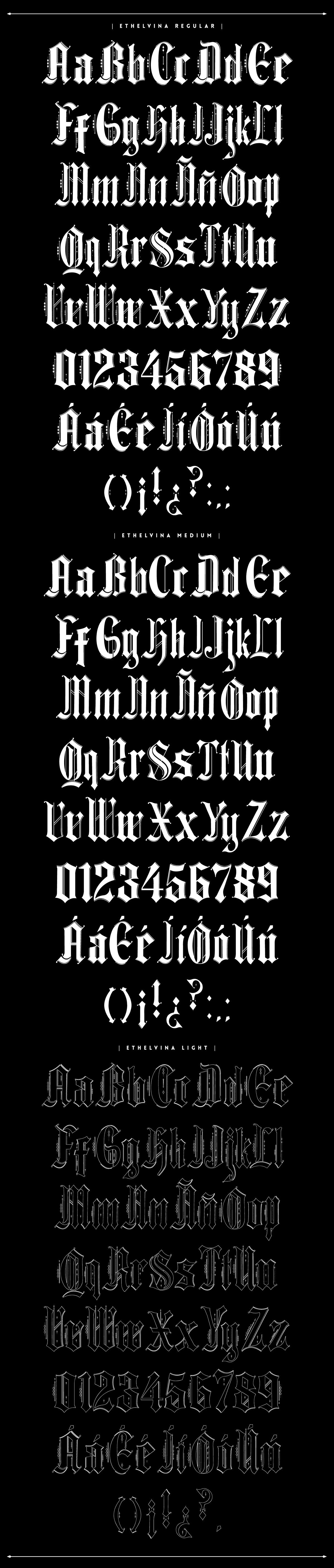 Ethelvina Typeface