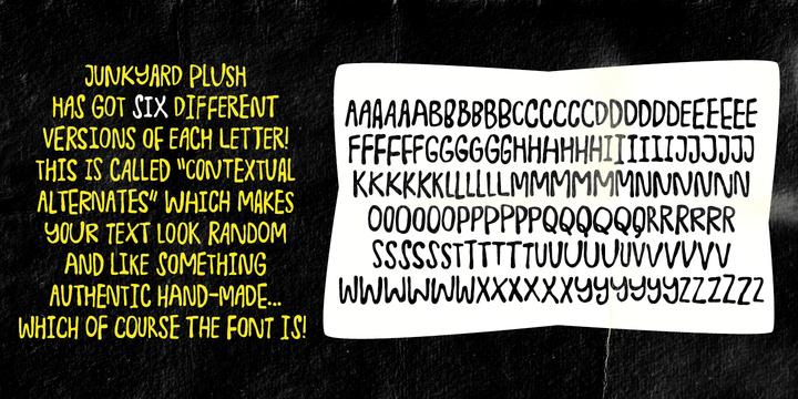 Junkyard Plush Font