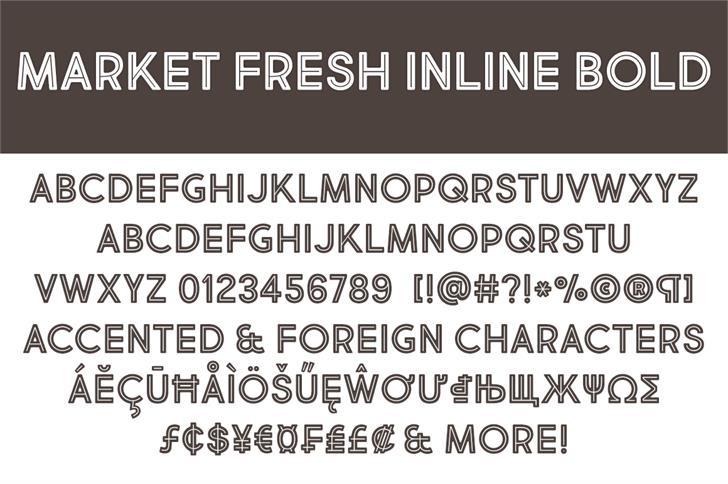 Market Fresh Inline Bold Font - Befonts com