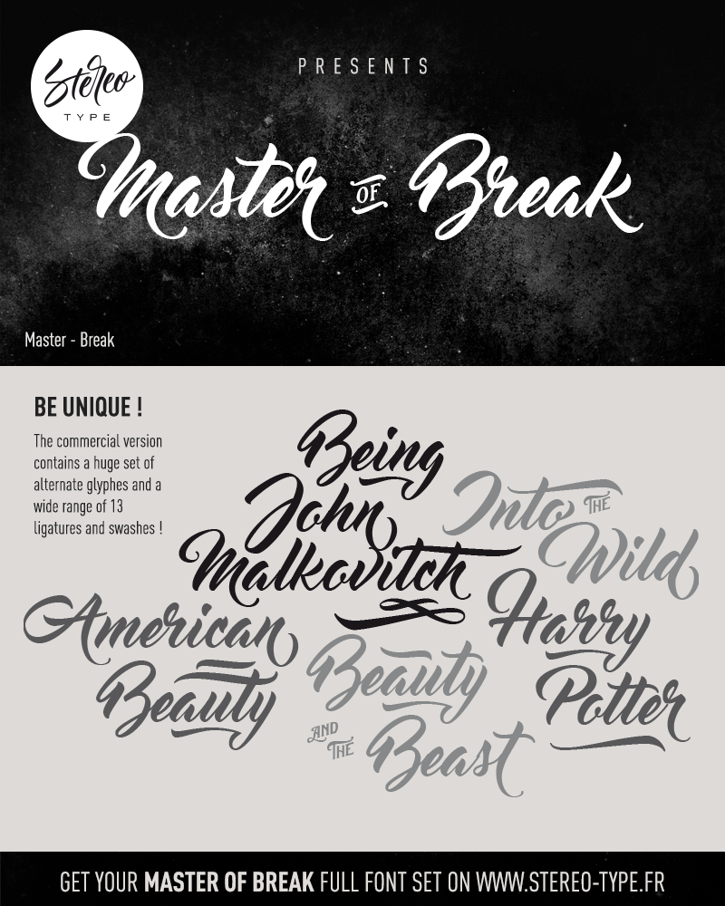 Master of Break Font - Befonts.com