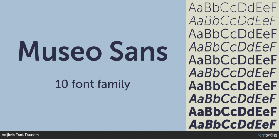 Museo sans font family befonts. Com.