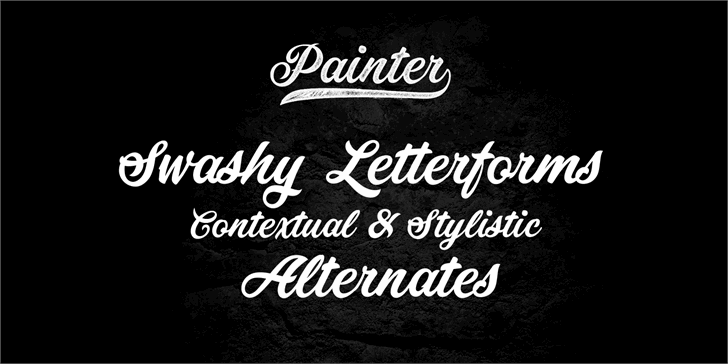 how to use painter fonts