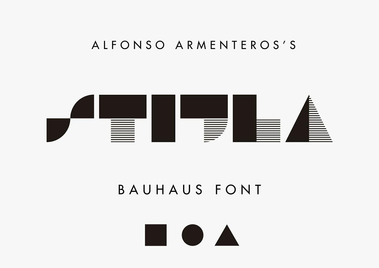 STIJLA Bauhaus-like Font - Befonts.com