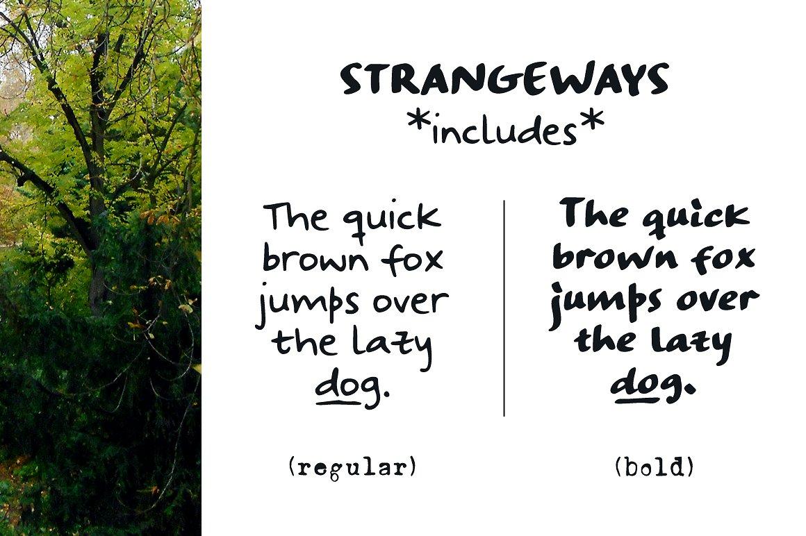 Strangeways Sample Font