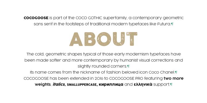 Cocogoose Pro Font Famly