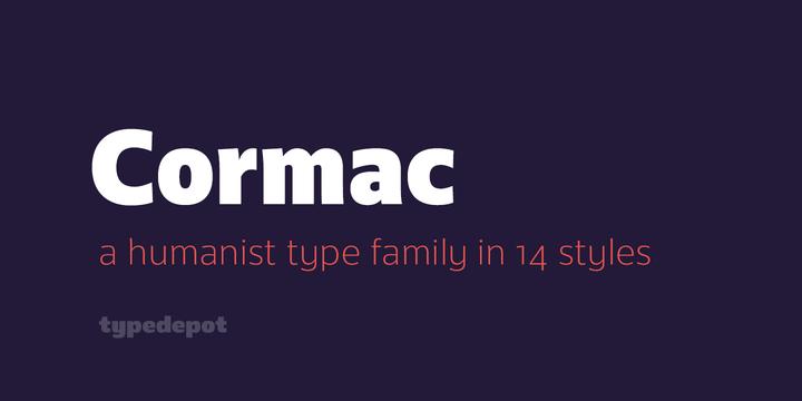 Cormac Font Family