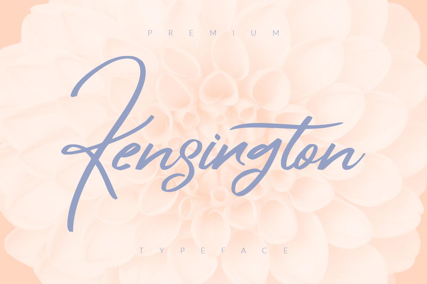 Kensington script font befonts