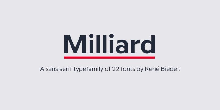 Milliard Font Family - Befonts com
