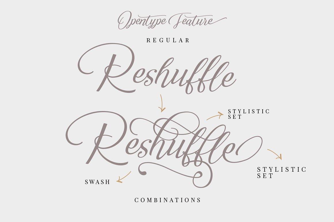 Reshuffle Script Font