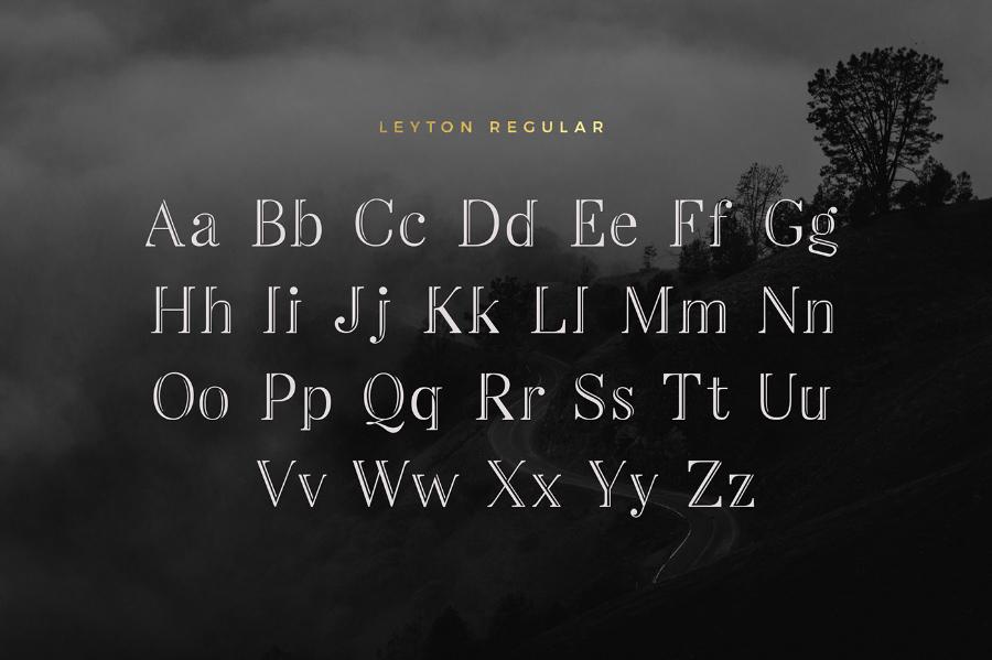 Leyton Typeface