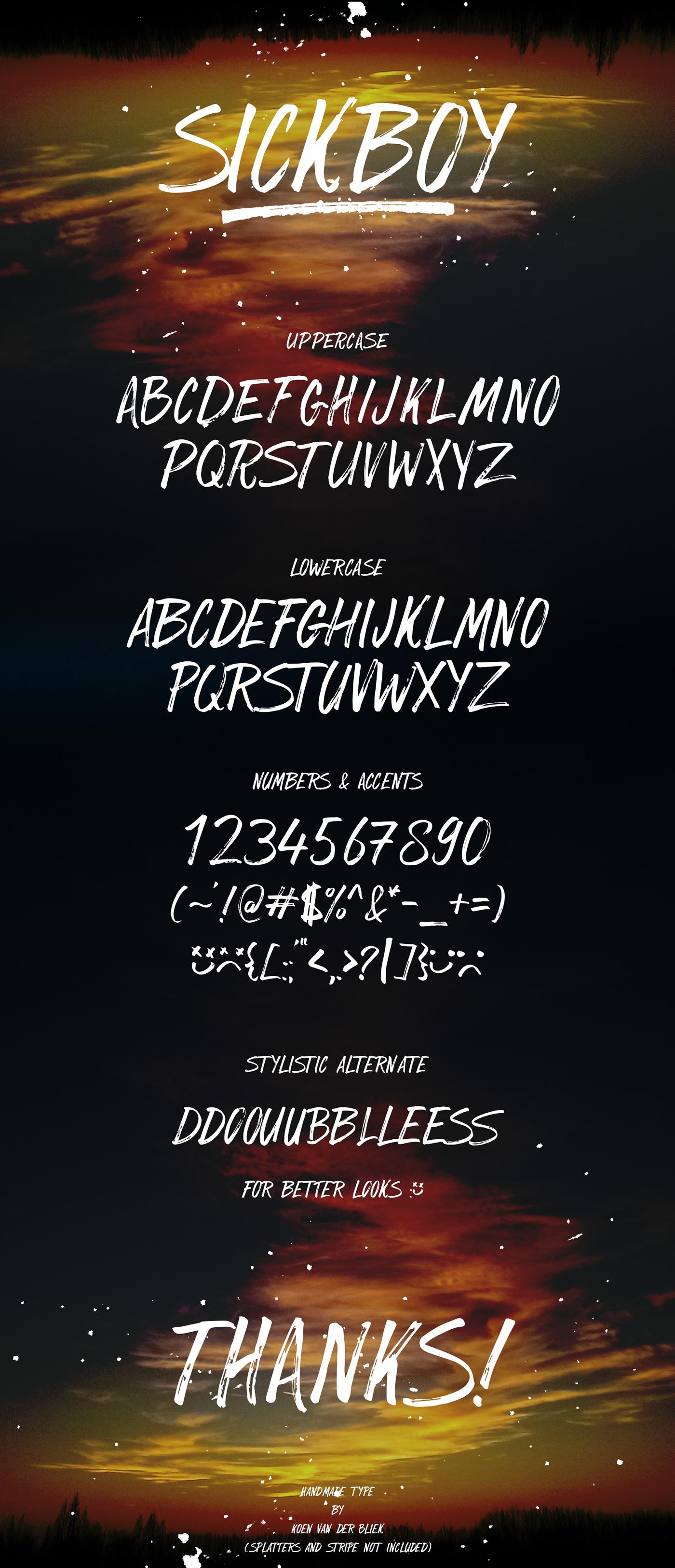 SickBoy Font