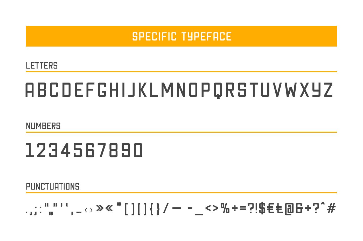 Specific Typeface