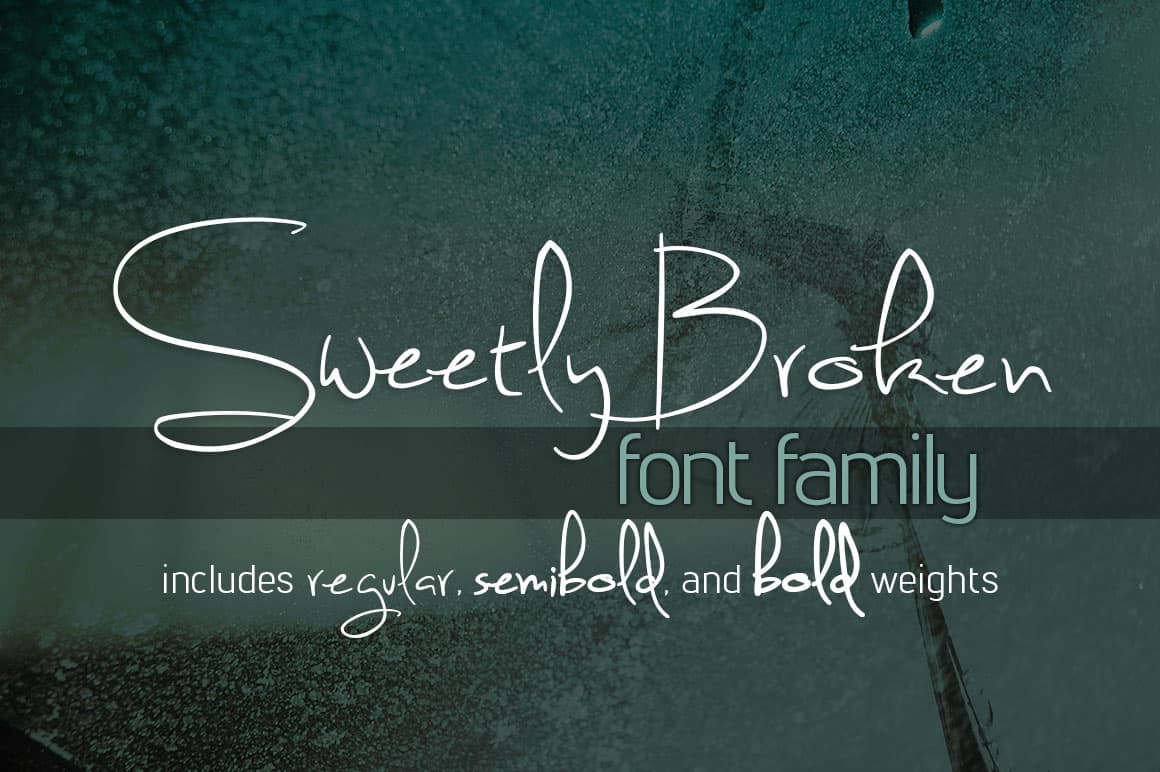 Sweetly broken font family befonts