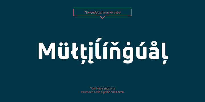 Uni Neue Font Family