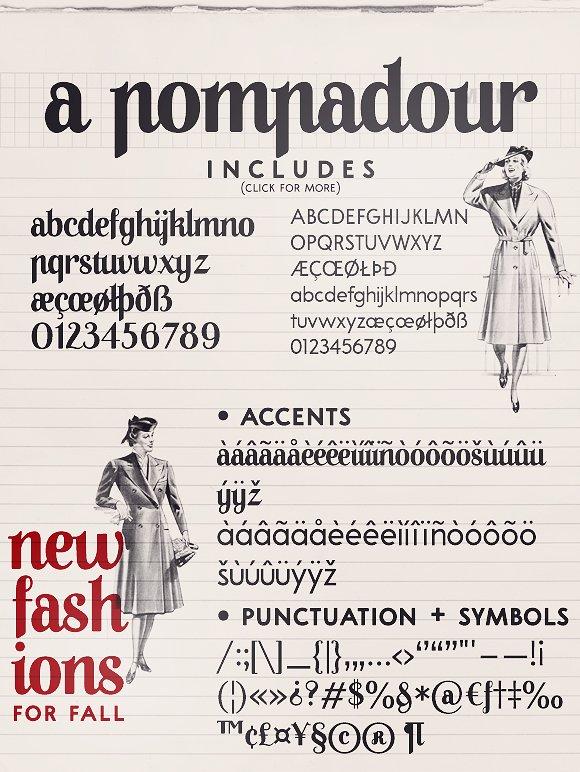 A Pompadour Font Family
