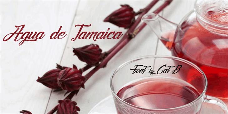 Agua De Jamaica Font