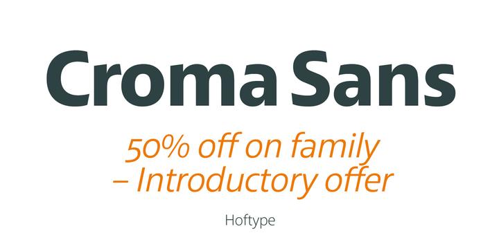 Croma Sans Font Family