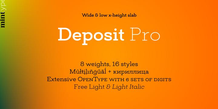 Deposit Pro Font Family