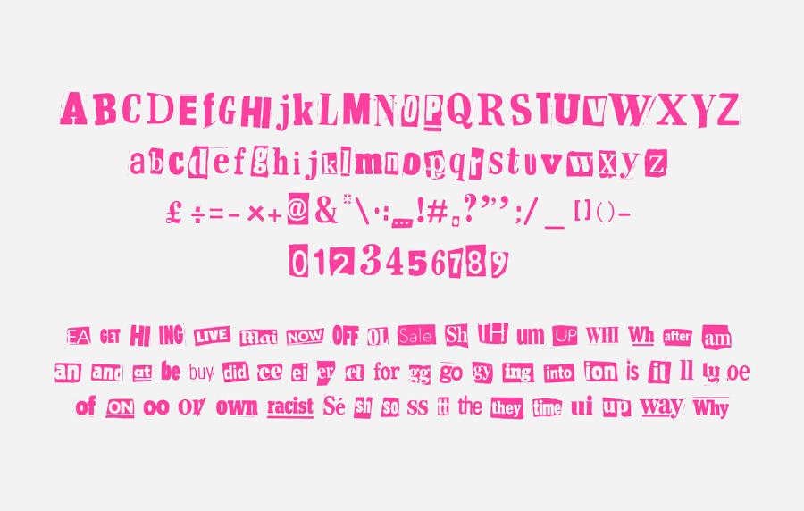 Exposé Typeface