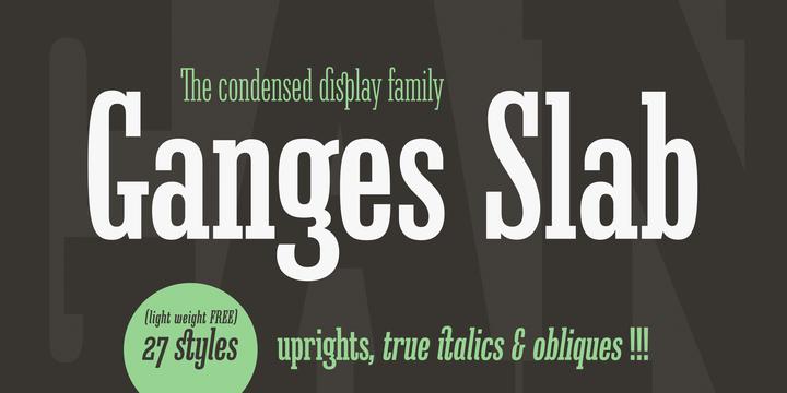 Ganges Slab Font Family