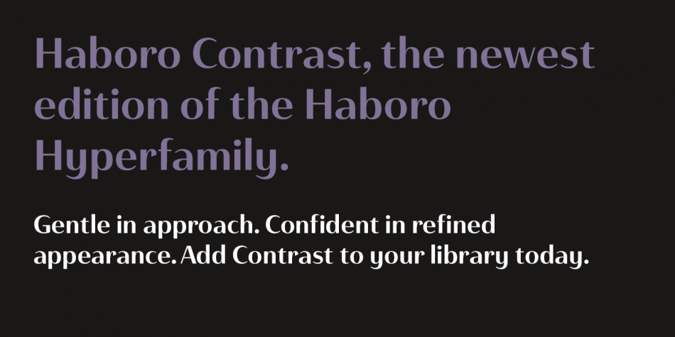 Haboro Contrast Font Family