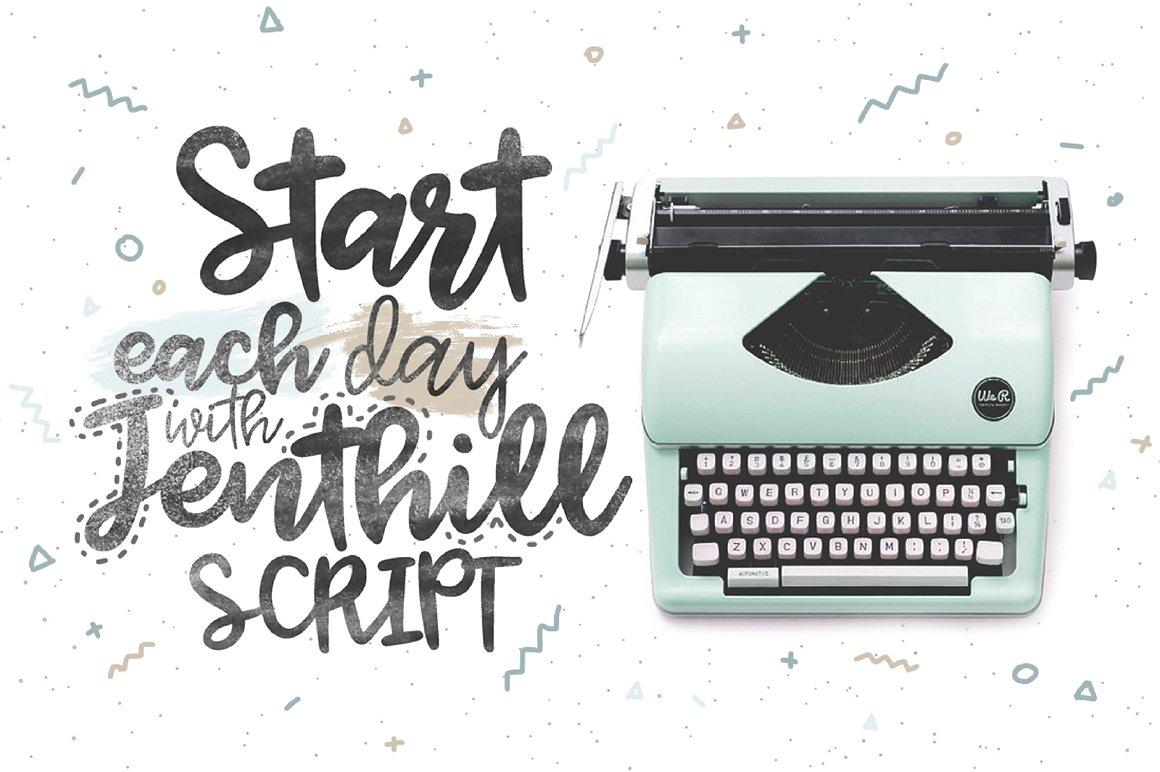 Jenthill Script Font