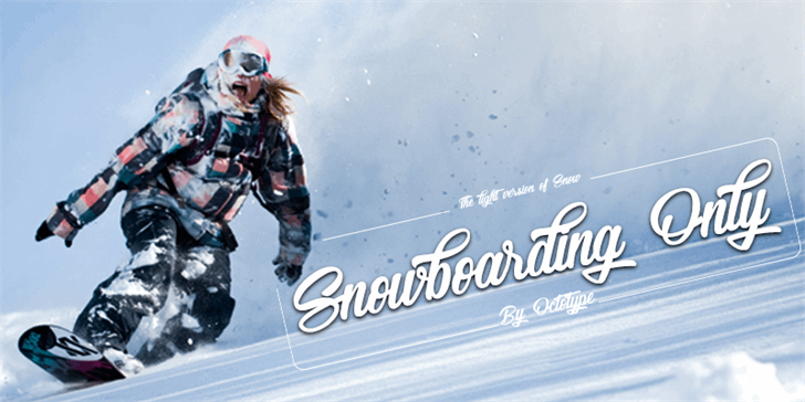 Snowboarding Only Font