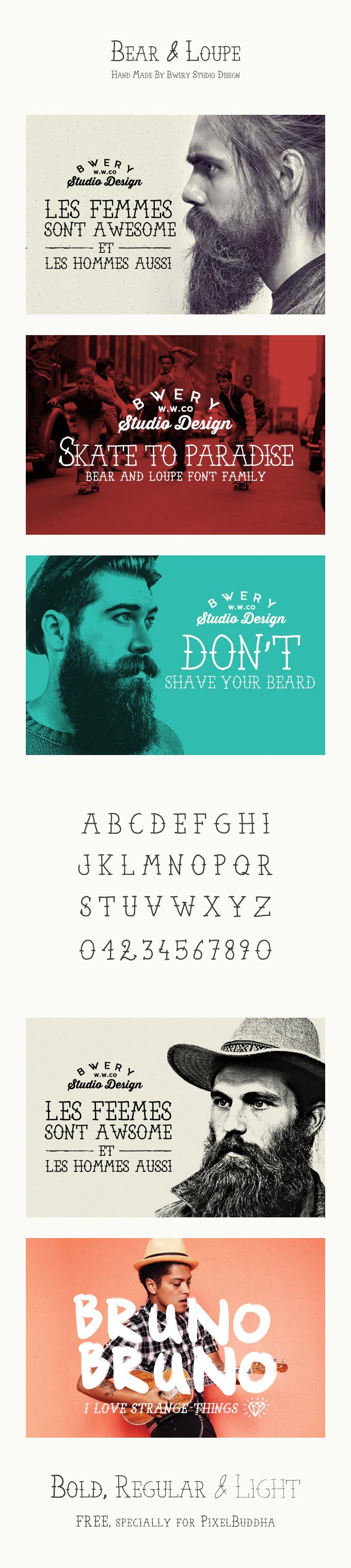 Bear & Loupe Typeface