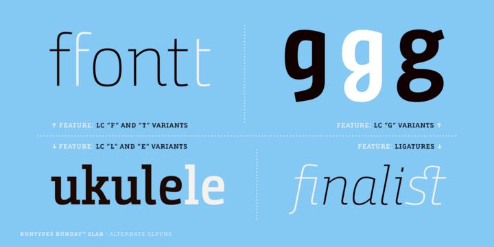 Bunday Slab Font Family