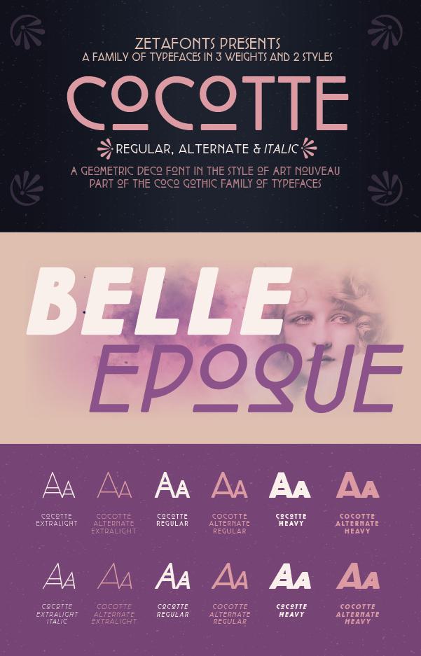 Cocotte Font Family