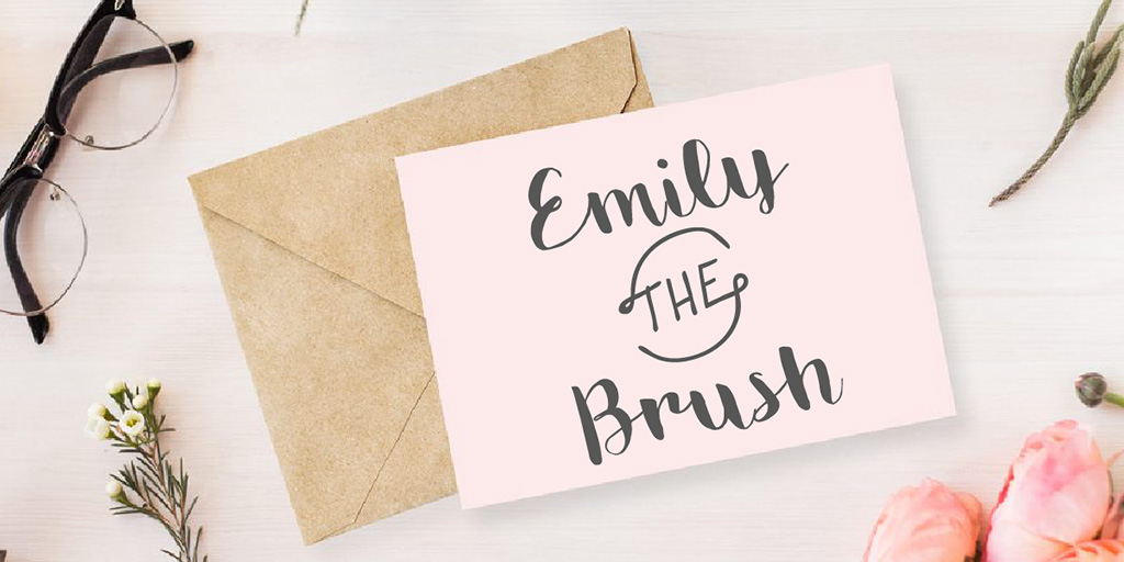 Emily The Brush Font