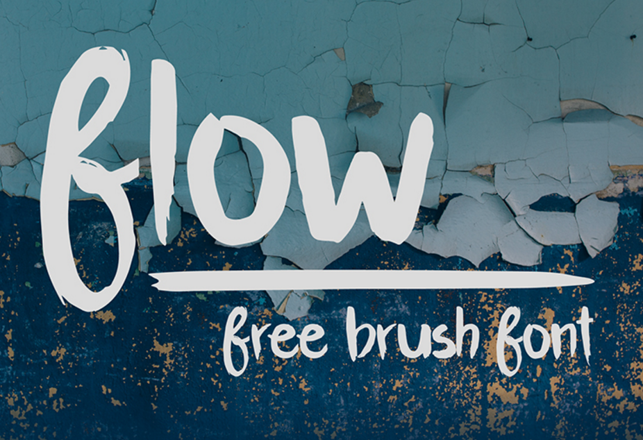 Flow Brush Font - Befonts com