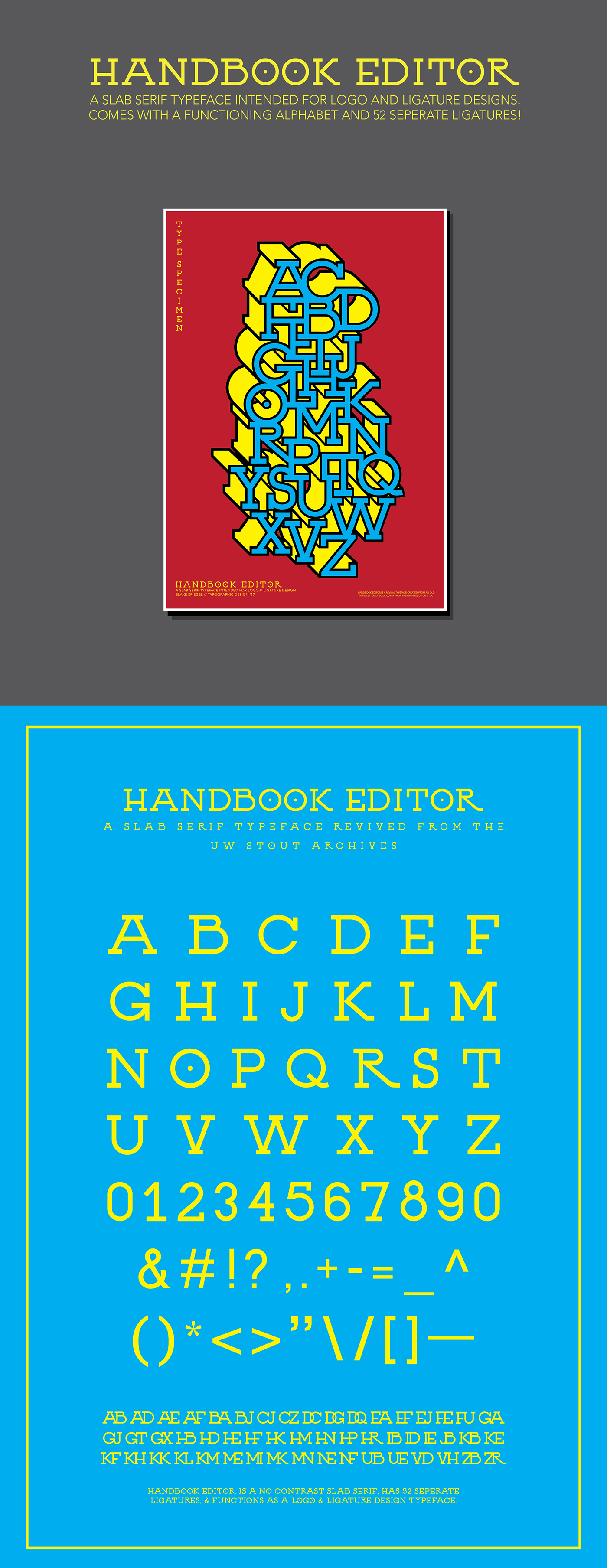 Handbook Editor Typeface