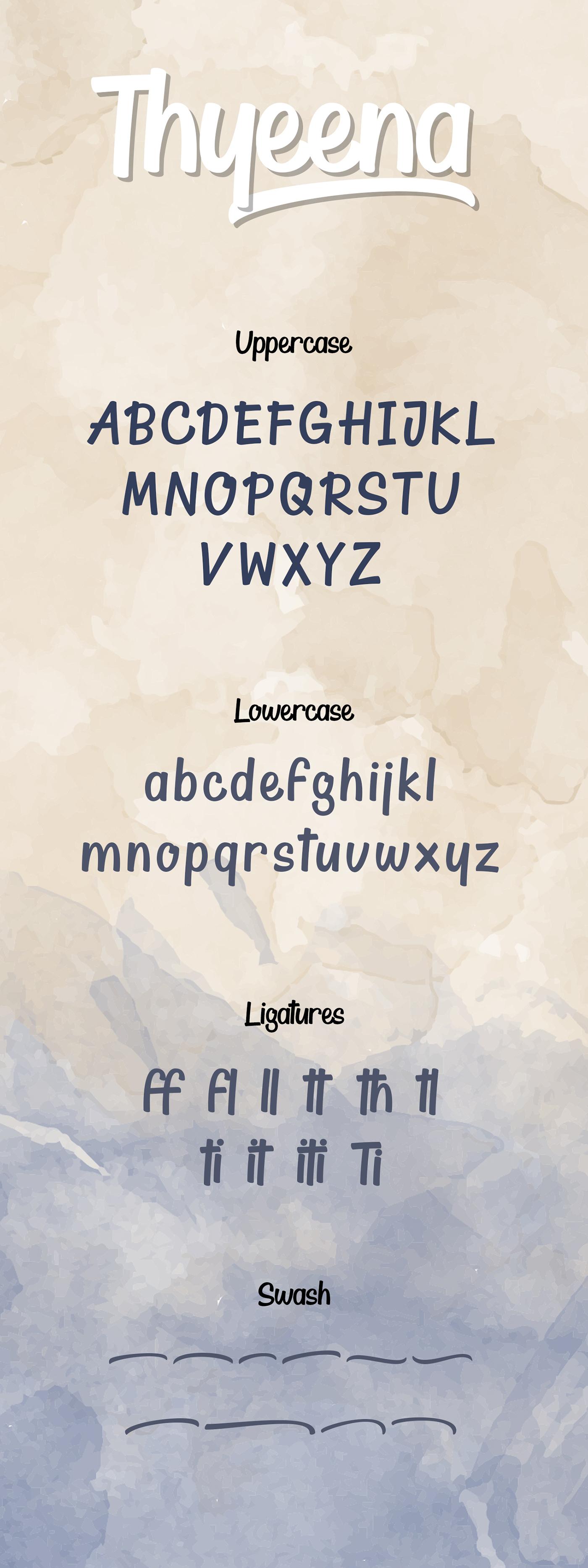 Thyeena Handwritten Font