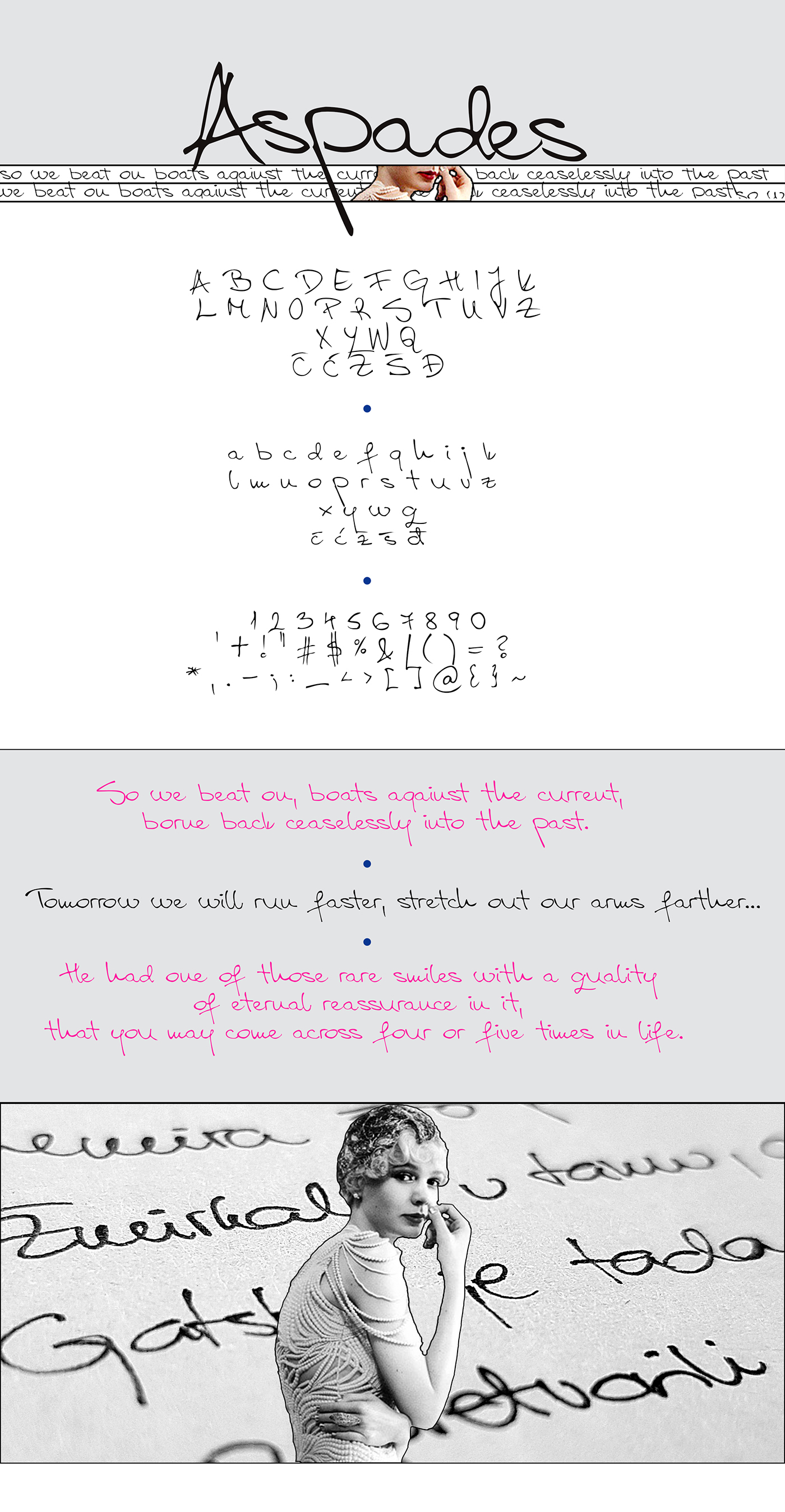 Aspades Handwritten Font