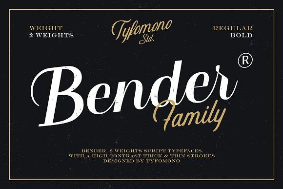 Bender Script Font