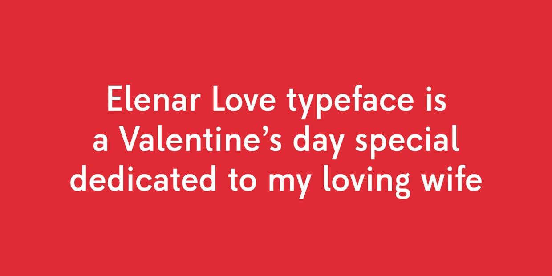 Elenar Love Font