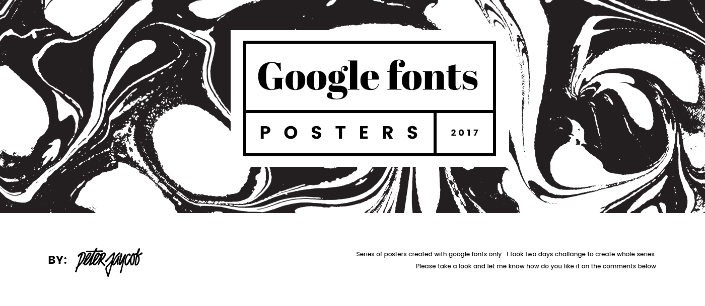 Google Fonts Posters 2017